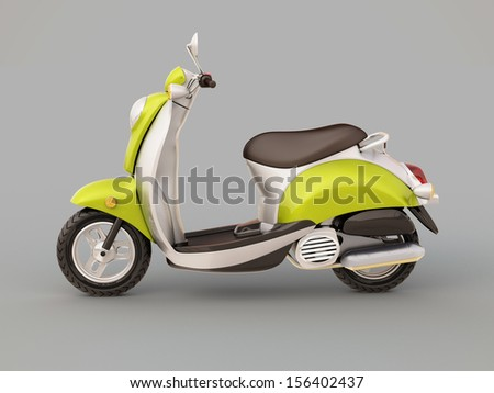 Modern classic scooter on a grey background #156402437