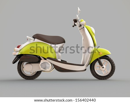 Modern classic scooter on a grey background #156402440