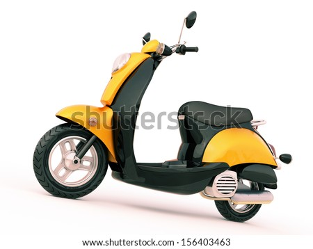 Modern classic scooter on a light background #156403463