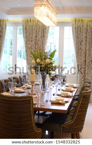 modern classical mansion luxury interior, home interior, hotel interior