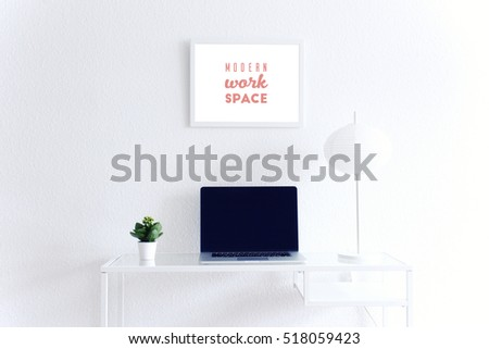 modern clean workspace mockup...