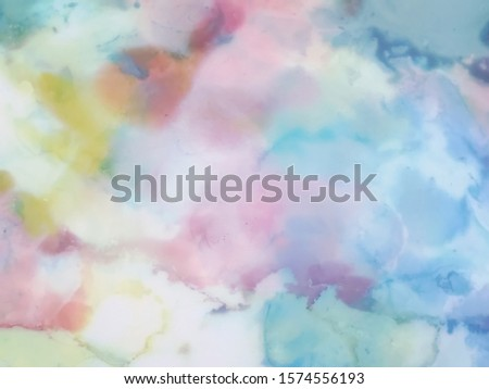 Modern Clouds Ink Wallpapers. Chinese Ink Painting. Ivory, Blue Grunge Drywall Mud Art. Marble Slab Design.  Pastel Tones Smears on Canvas. Ivory, Blue Blobs and Spots Background.