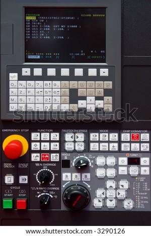 modern CNC machine control panel