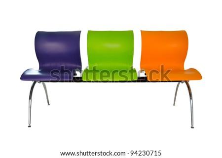 Modern colorful seats.
