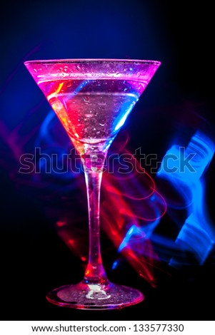 modern colourful coctail on the black background