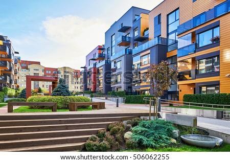 modern complex of apartment...