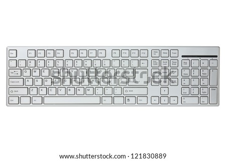 Modern computer keyboard isolated on a white background #121830889