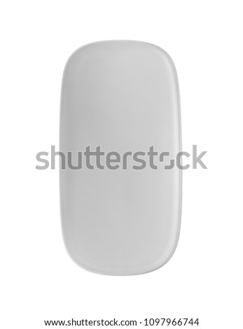 Modern computer mouse on white background