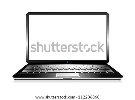 Modern Computer PC Laptop- Raster Version