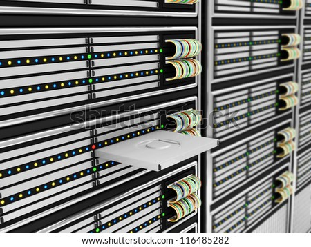 Modern Computer Servers abstract background