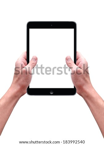 modern computer tablet in man's hands #183992540