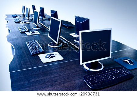 modern computers with LCD screens