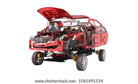 modern concept of auto repair...