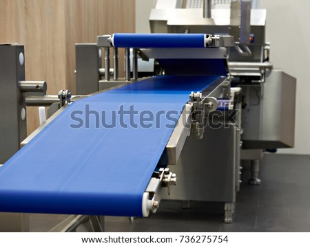 Modern conveyor and slicer for food industry