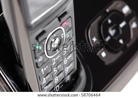 Modern cordless phone and answering machine abstract