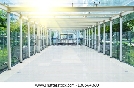Modern corridor in the office.