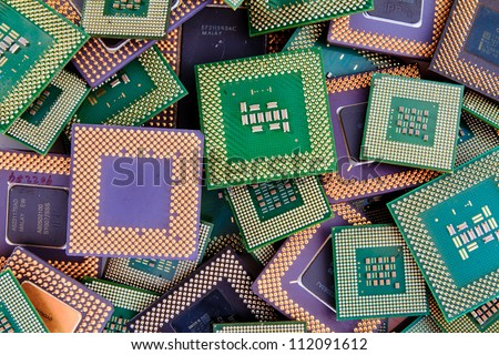 Modern CPU background processor logos removed
