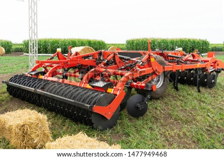 modern cultivator ready for field work
