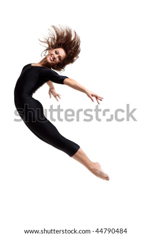 modern dancers poses in front of the white background - Shutterstock ID 44790484