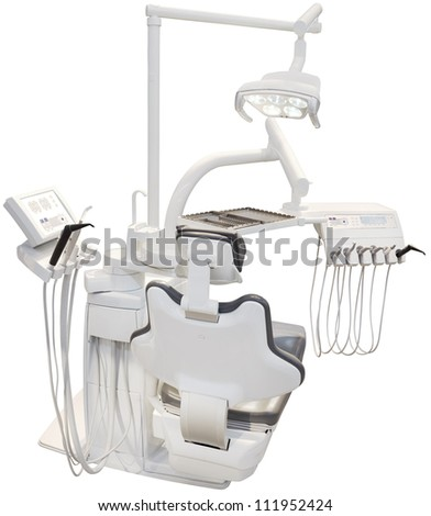 Modern Dental Chair Isolated with Clipping path
