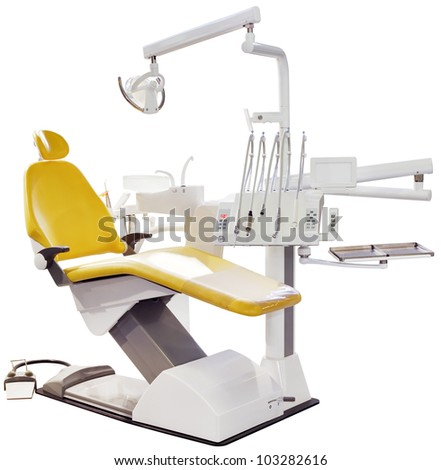 Modern Dentist Chair Isolated with Clipping Path