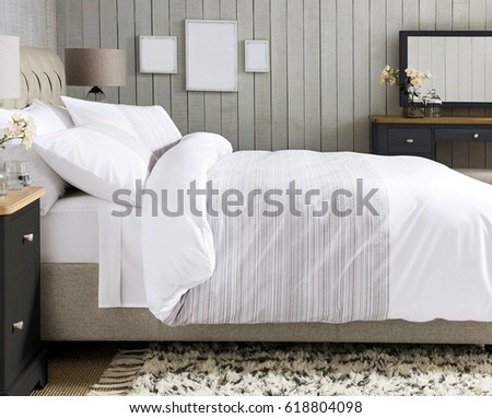 Modern design bedroom interior  #618804098