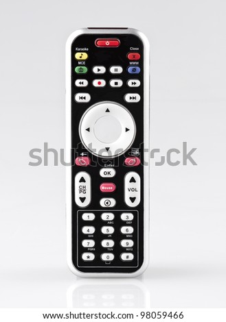 Modern design of the remote control for computer