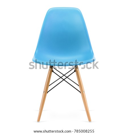 Modern design, plastic kitchen chair isolated on white background #785008255