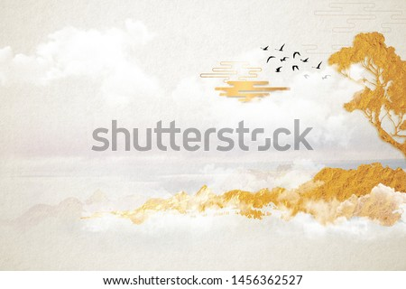 Modern digital art of Chinese landscape painting Stock foto ©