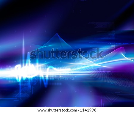 Modern digital background - extreme resolution - stock photo