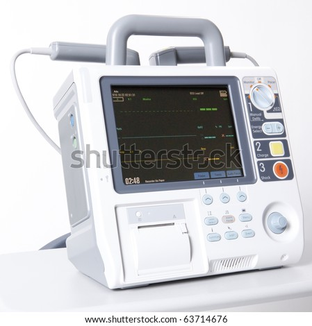 Modern digital emergency defibrilator equipment