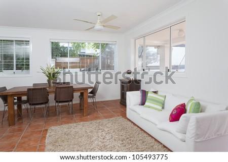 Modern dining room in Australian mansion