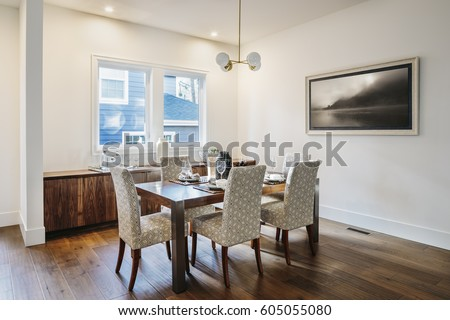 Modern dining room, seating for six #605055080