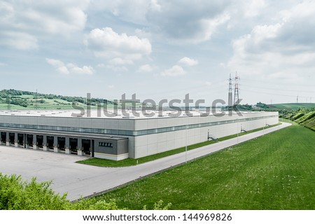 Modern Distribution Center from outside