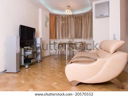 modern drawing room interior - stock photo