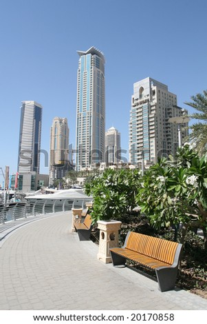 Modern Dubai Waterfront Skyline