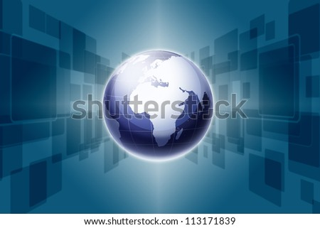 Modern earth and Touch screen background