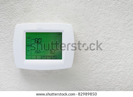 Modern efficient programming thermostat-energy save solution
