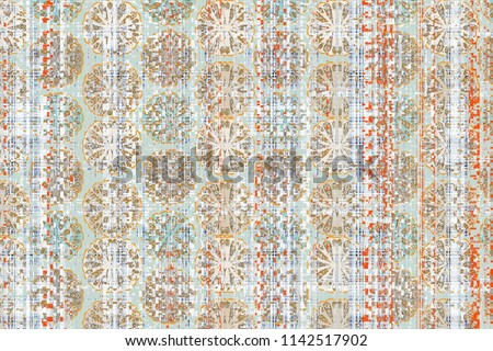 modern, elegant,  abstract embroidery texture or grunge background. For art  design, and vintage paper or border frame,  damask pattern for carpet, rug, scarf, clipboard , shawl pattern