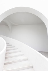 Modern elegant Staircase curve Architecture details.