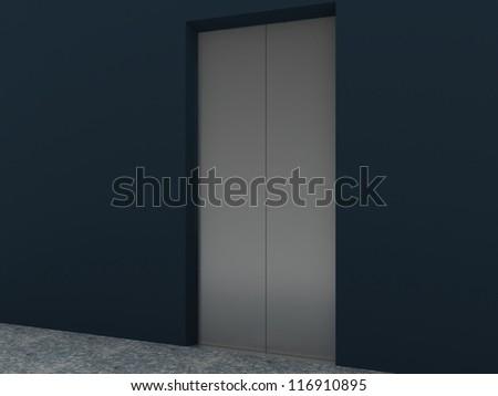 Modern Elevator Interior and Exterior inside building
