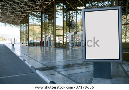 Modern empty advertising billboard - stock photo
