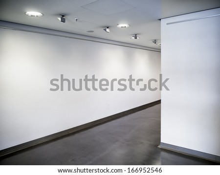 modern empty corridor - background - photo #166952546