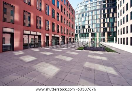 Modern European financial office district in Frankfurt