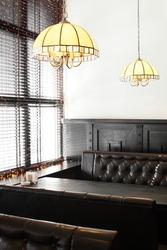 modern european restaurant with nice and bright interior
