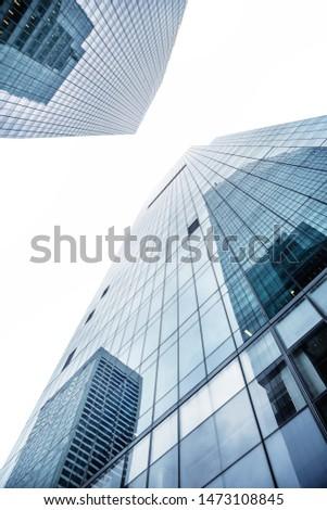 modern facades against the sky