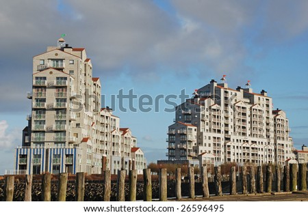 modern family apartments on the dutch Breskens waterfront