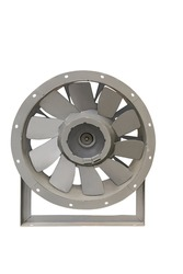 modern fans are widely used for air purification at the enterprises of all industries/Modern industrial fans closeup isolated on white background