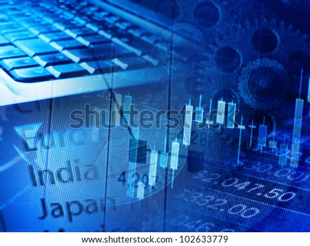 Modern finance system background.