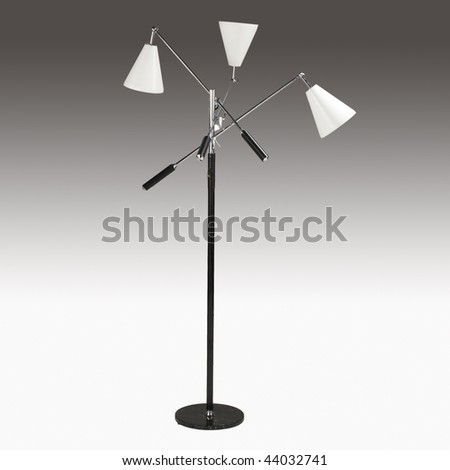 Modern Floor Lamp With 3 Lights And Articulated Arms Stock Photo ...